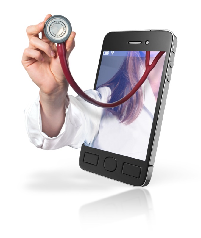Clipart - Doctor Online Mobile Help