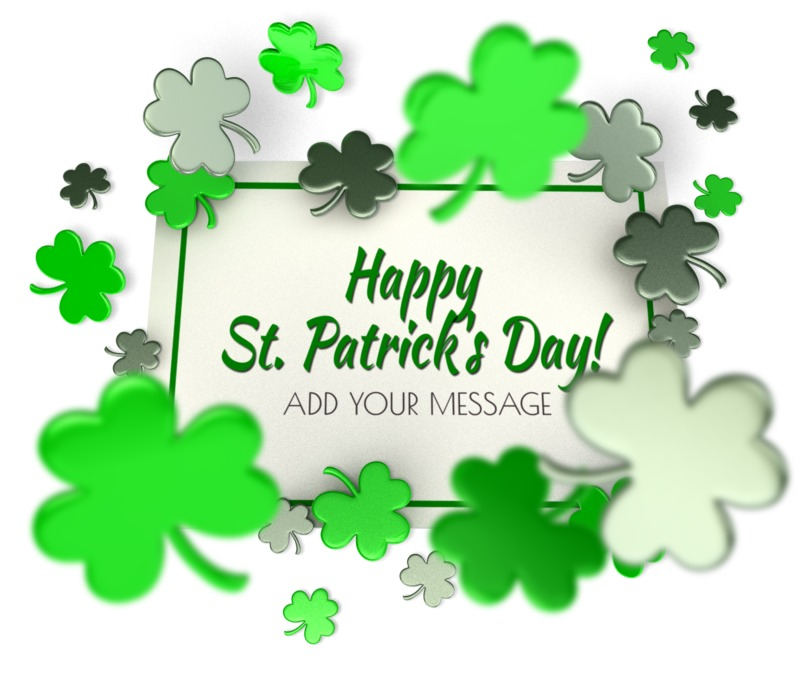 This Presentation Clipart shows a preview of Shamrock Sign