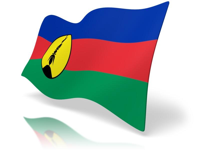 Clipart - Flag New Caledonia