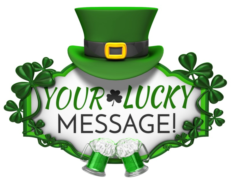 This Presentation Clipart shows a preview of St Patricks Day Hat Sign Cheers