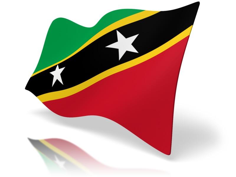 Clipart - Flag Saint Kitts And Nevis