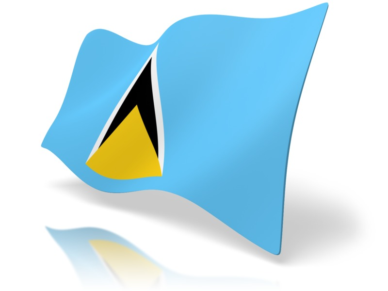 Clipart - Flag Saint Lucia
