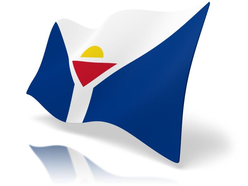Clipart - Flag Saint Martin