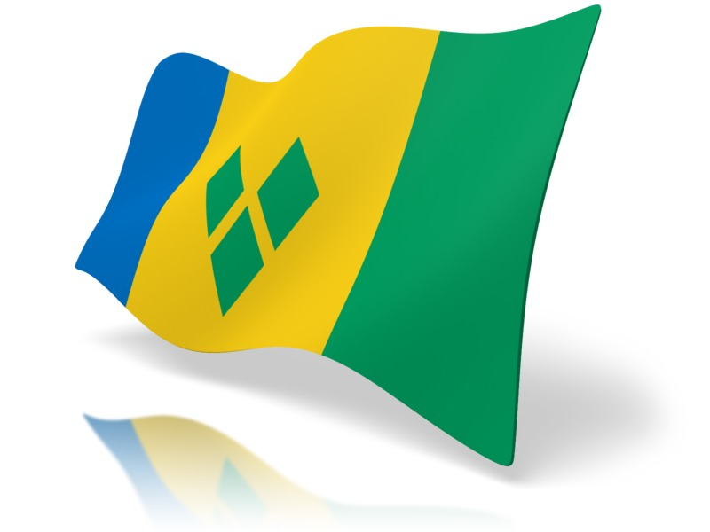 Clipart - Flag Saint Vincent And The Grenadines
