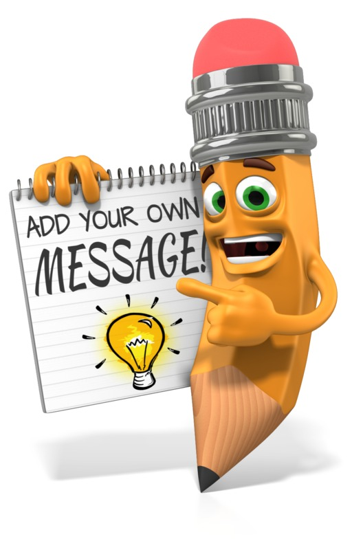 This Presentation Clipart shows a preview of Scribbles Holding Custom Notepad