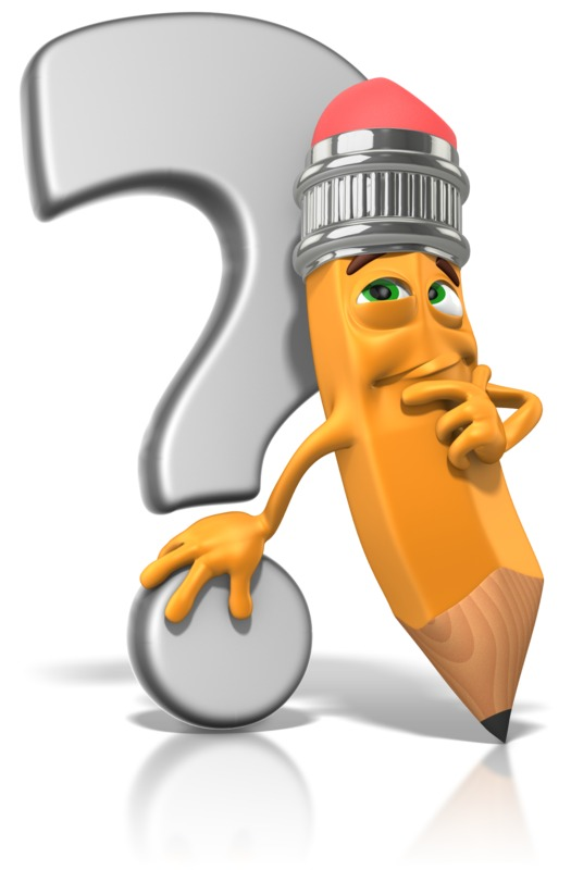 Clipart - Scribbles Next To Question Mark