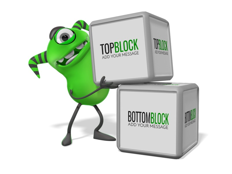 This Presentation Clipart shows a preview of Monster Two Blocks