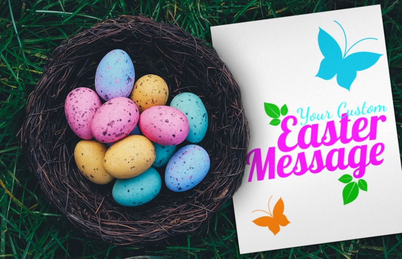 This Presentation Clipart shows a preview of Easter Egg Basket