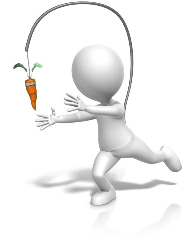 Clipart - Figure Chasing Dangling Carrot