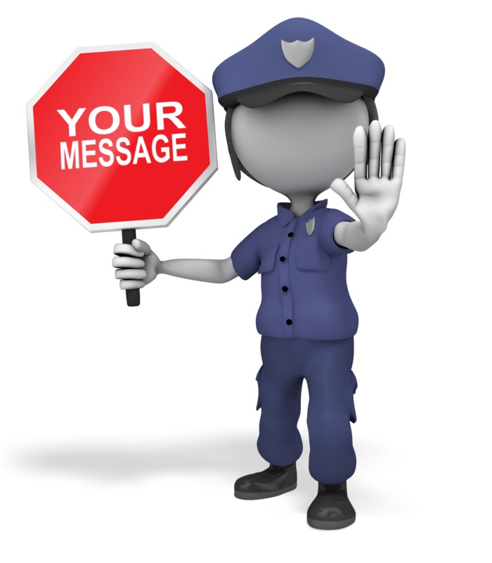 This Presentation Clipart shows a preview of Police Officer Stop Sign