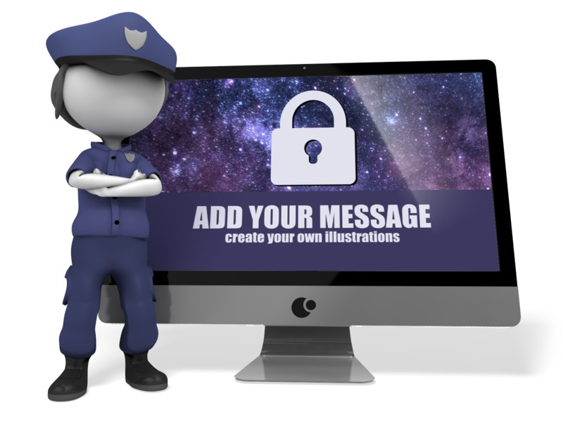 This Presentation Clipart shows a preview of Police Officer Cyber Security