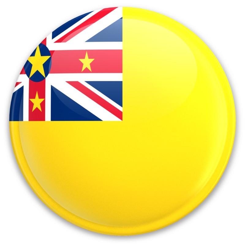 Clipart - Flag Niue Button
