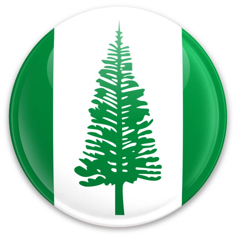 Clipart - Flag Norfolk Island Button