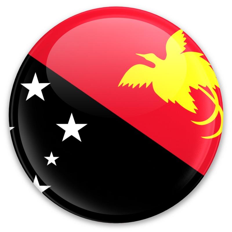 Clipart - Flag Papua New Guinea Button