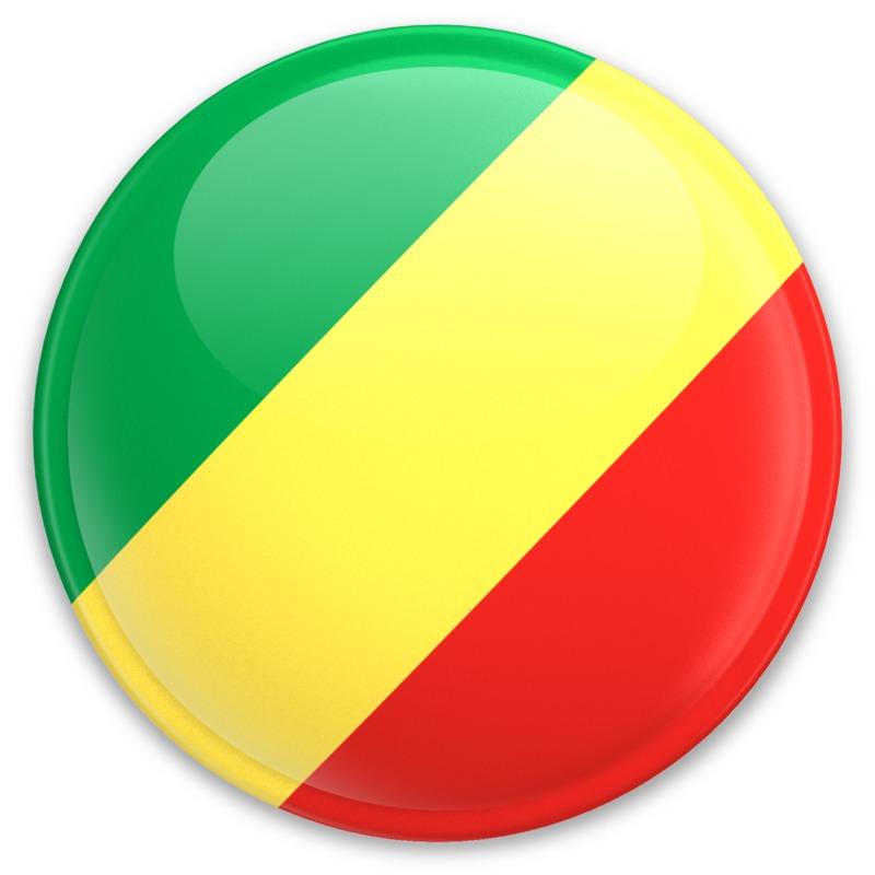 Clipart - Flag Republic Of The Congo Button