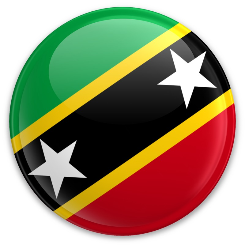 Clipart - Flag Saint Kitts And Nevis Button