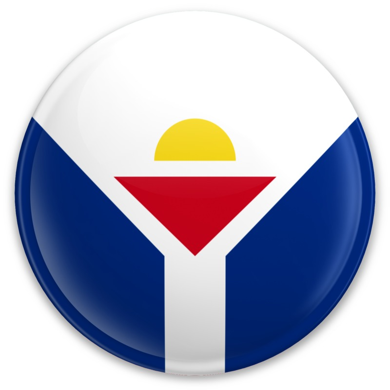 Clipart - Flag Saint Martin Button