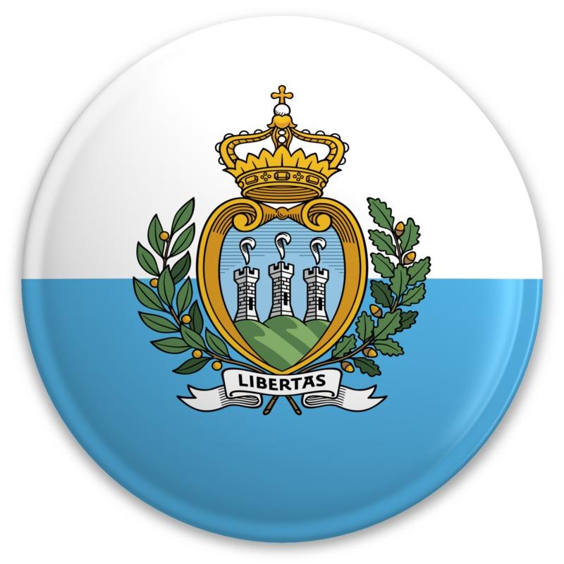 Clipart - Flag San Marino Button
