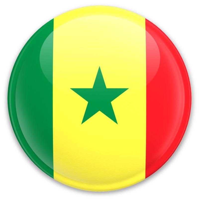 Clipart - Flag Senegal Button