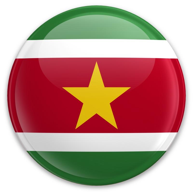Clipart - Flag Suriname Button