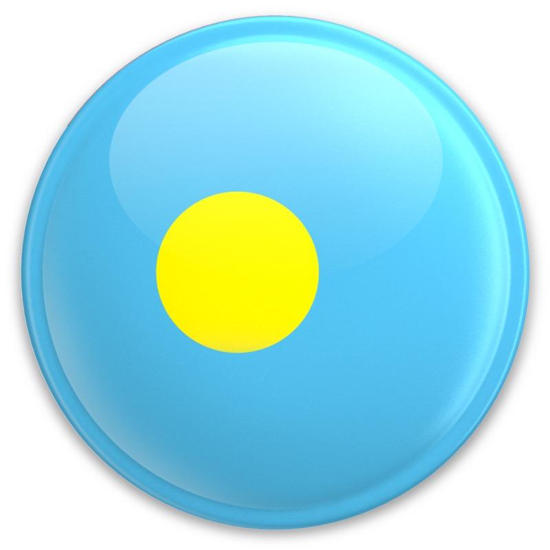 Clipart - Flag Palau Button