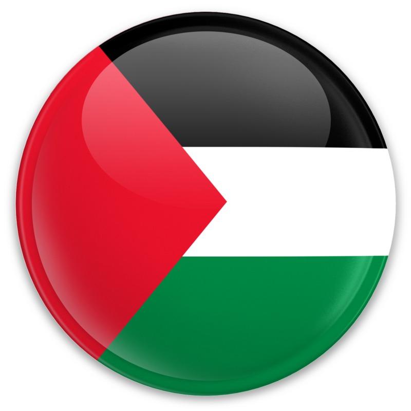 Clipart - Flag Palestine Button