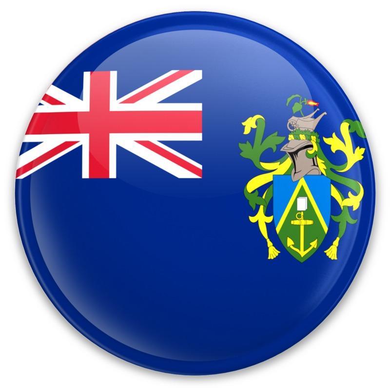 Clipart - Flag Pitcarin Islands Button