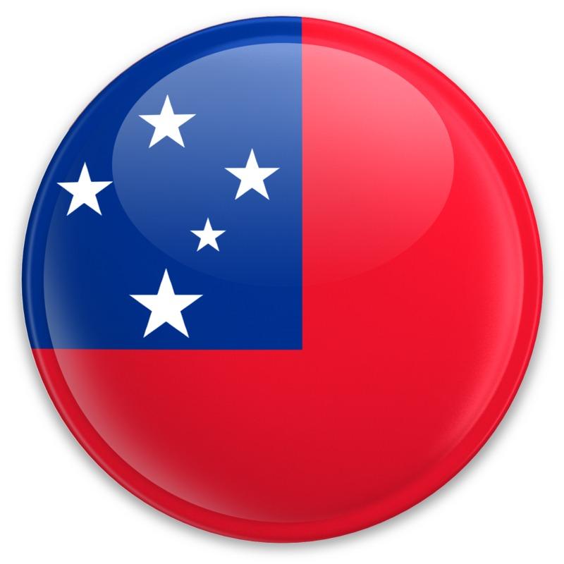 Clipart - Flag Samoa Button
