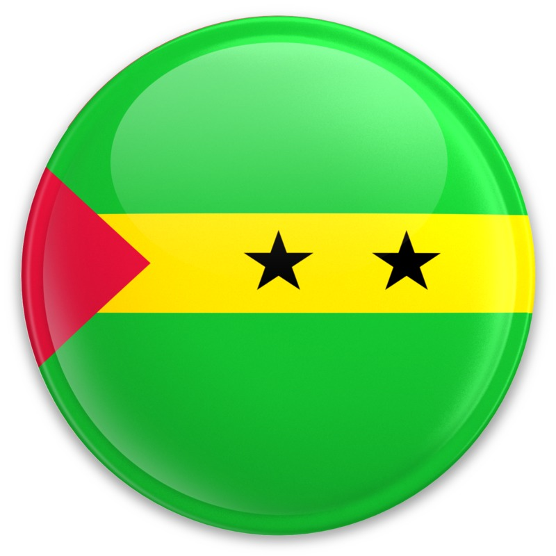 Clipart - Flag Sao Tome And Principe Button