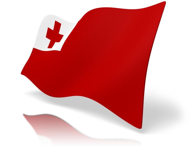 Clipart - Flag Tonga