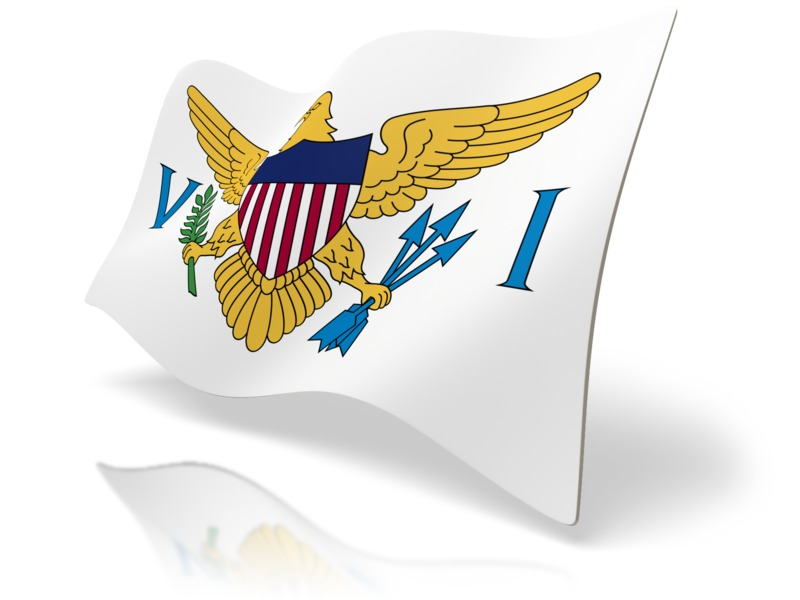 Clipart - Flag United States Virgin Islands
