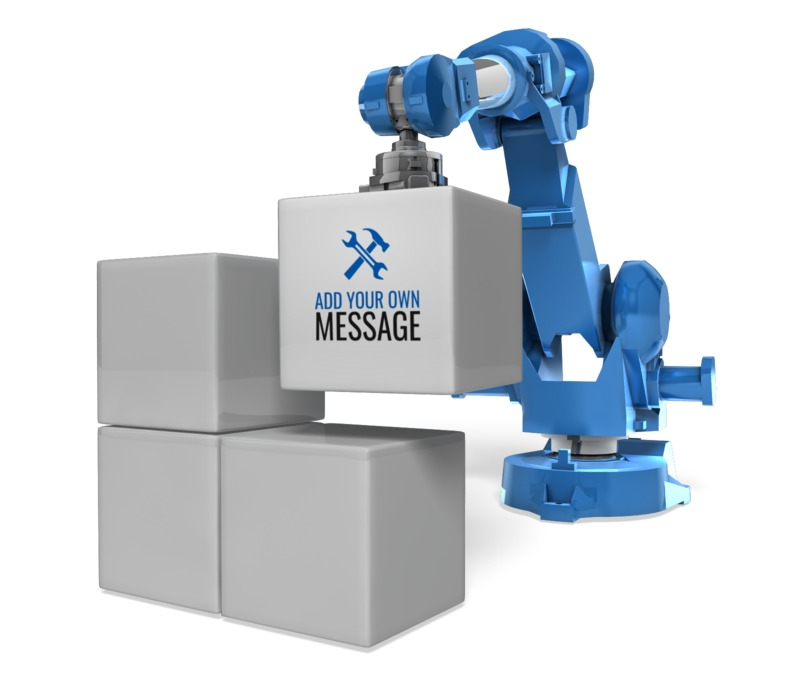This Presentation Clipart shows a preview of Robot Arm Stack Blocks