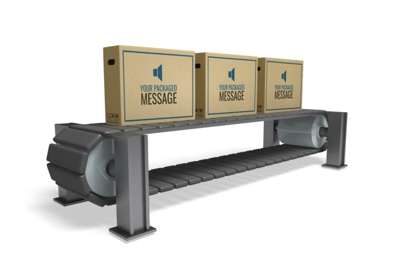 This Presentation Clipart shows a preview of Boxes On Conveyor
