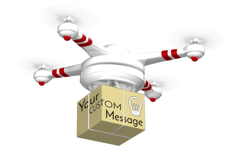 This Presentation Clipart shows a preview of Drone Carrying Box