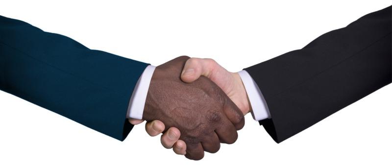 Clipart - Business Diversity Handshake