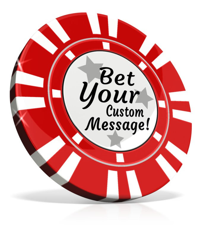 This Presentation Clipart shows a preview of Custom Poker Chip
