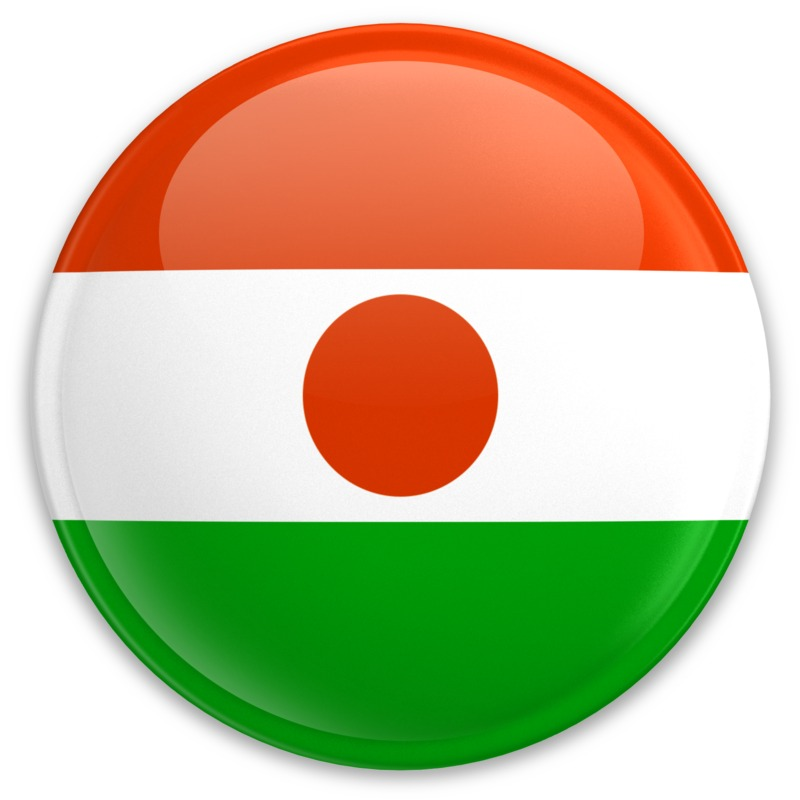 Clipart - Flag Niger Button