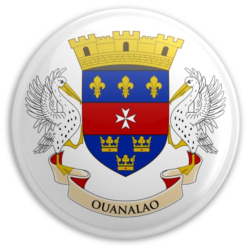 Clipart - Flag Saint Barthelemy Button