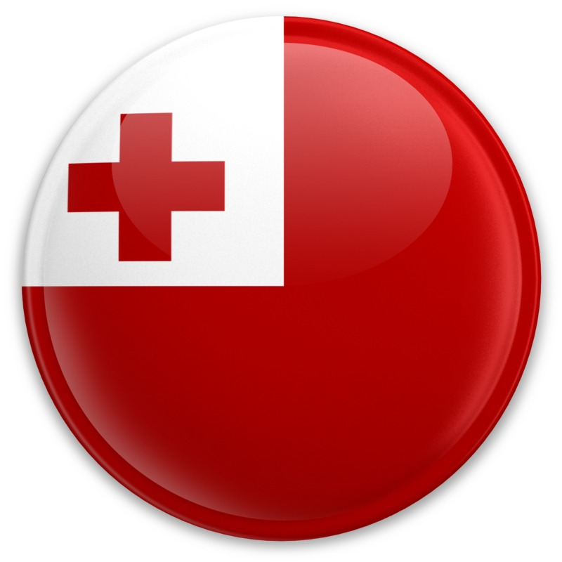 Clipart - Flag Tonga Button