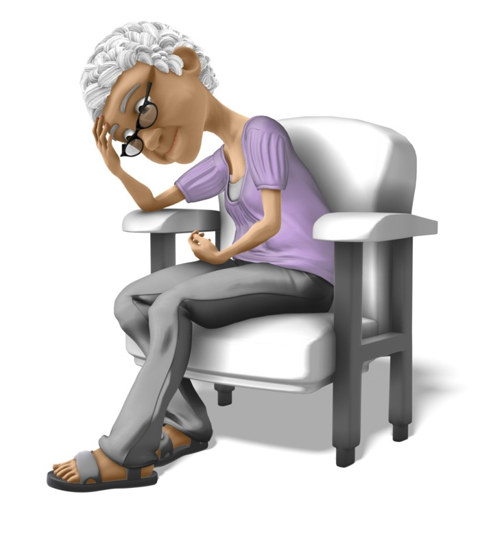 Clipart - Bernice Sad Chair