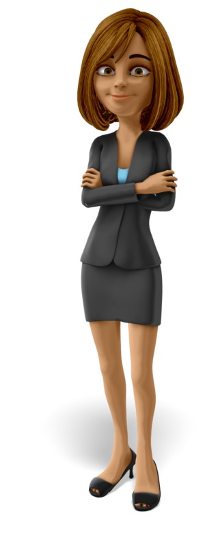 Clipart - Talia Standing Arms Folded