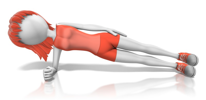 Clipart - Woman Exercise Planking
