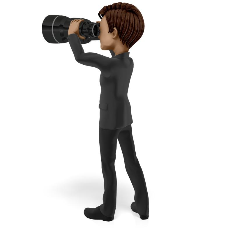 Clipart - Looking Ahead Binoculars