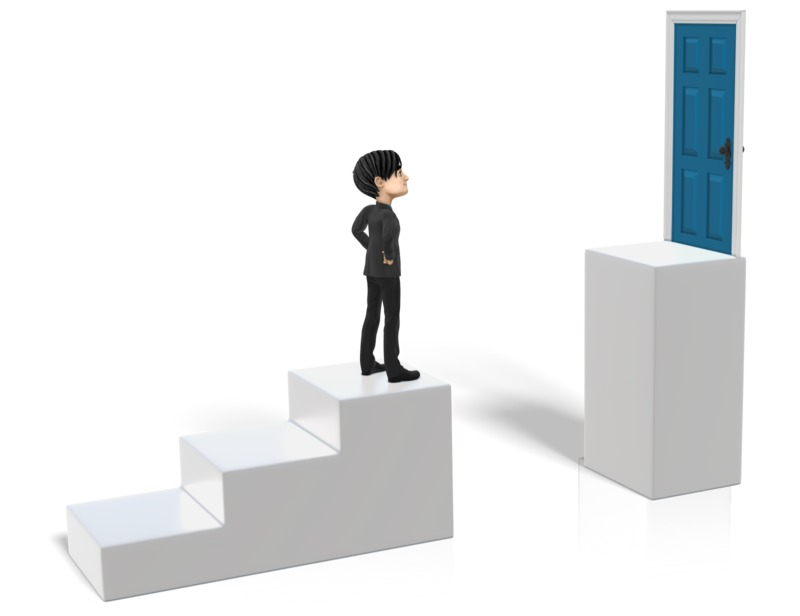 Clipart - Steps Goal Obstacle