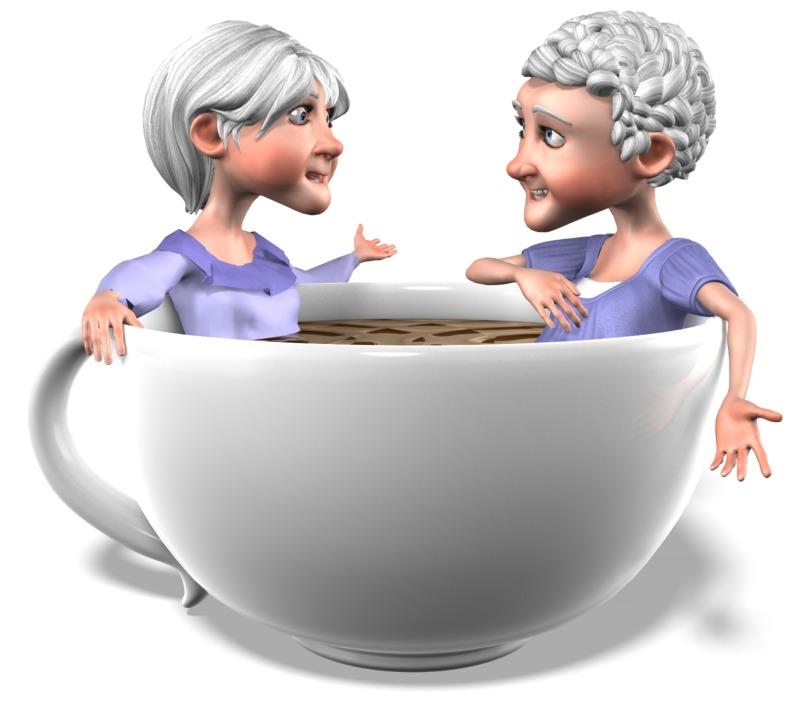 Clipart - Bernice Martha Coffee Conversation
