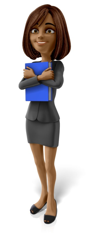 Clipart - Talia Standing Holding Book
