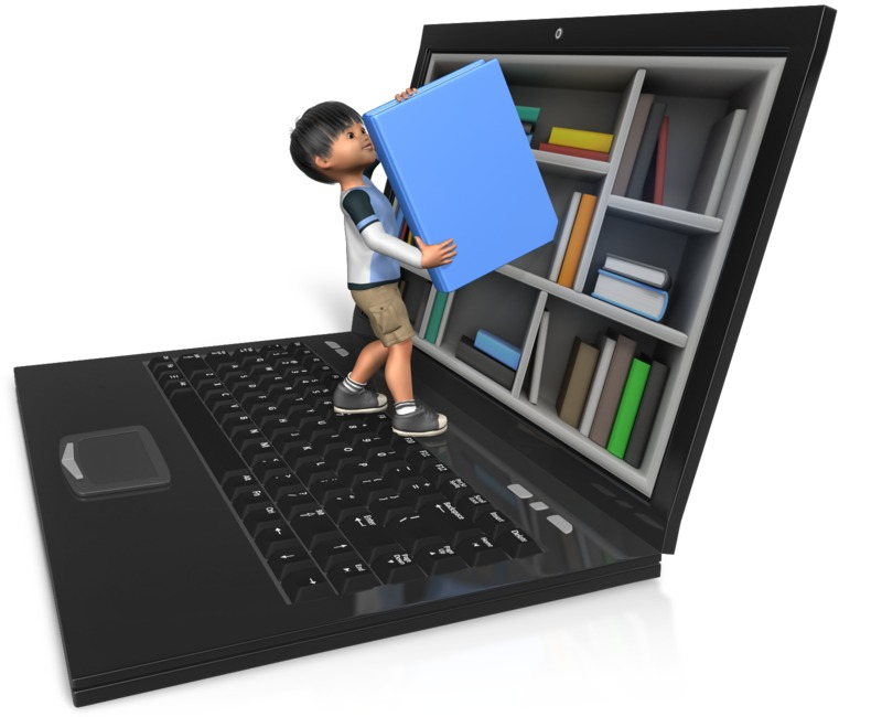 Clipart - James Reaching For Book