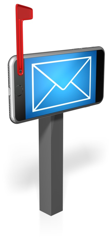 Clipart - Cell Phone Mailbox