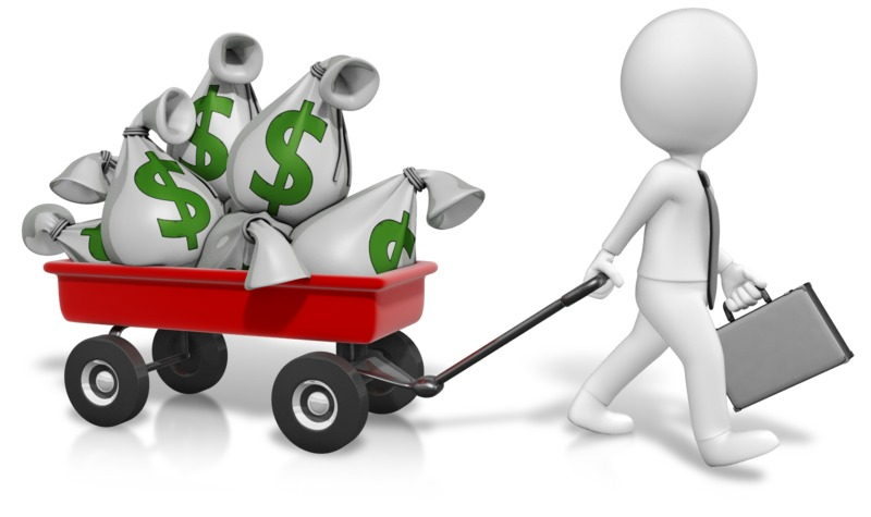Clipart - Wagon Full Of Money