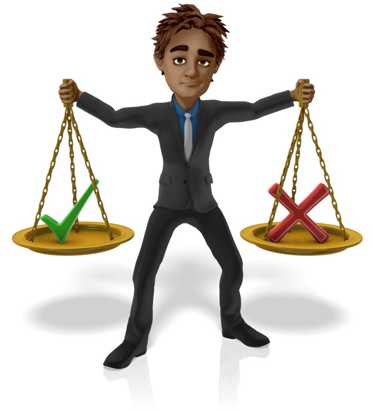 Clipart - Man Hold Scales Decision